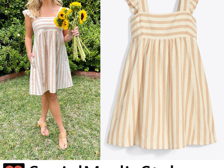 Reese Witherspoon's Draper James striped babydoll dress