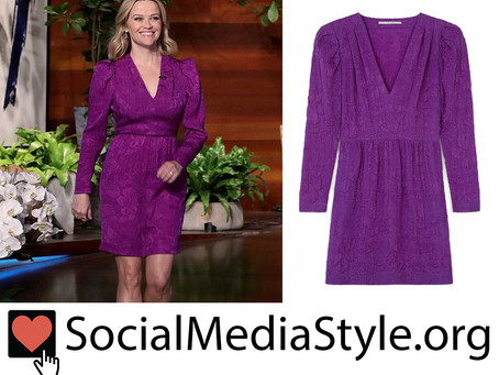Reese Witherspoon's purple dress from The Ellen DeGeneres Show