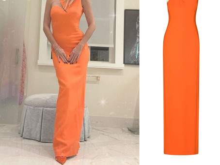 Heidi Klum's orange cutout gown