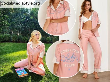Emma Roberts' pink pajamas