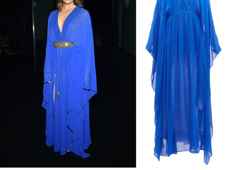 Mandy Moore's blue gown from Paris Fashion Week