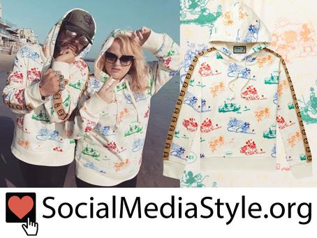 Mickey Gooch Jr. and Rebel Wilson's Disney x Gucci Mickey and Minnie Sweatshirt