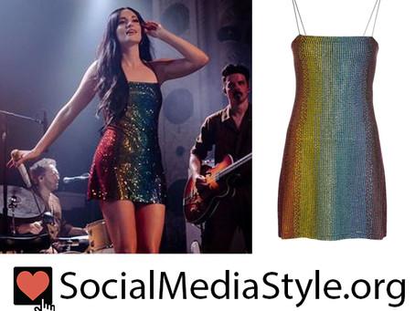 Kacey Musgraves' rainbow sequin dress