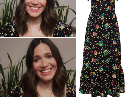 Mandy Moore's treasure chest print dress from The Today Show