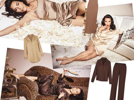 Kim Kardashian's Skims silk slip, night dress, shirt, and pants