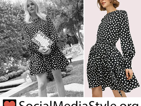 Emma Roberts' cloud polka dot dress