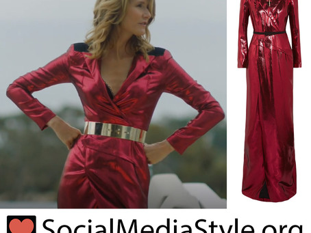 Renata (Laura Dern)'s red lame gown from Big Little Lies