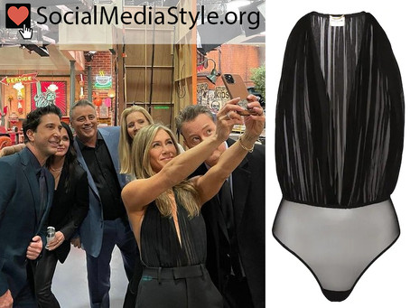 Jennifer Aniston's plunging black bodysuit from Friends: The Reunion