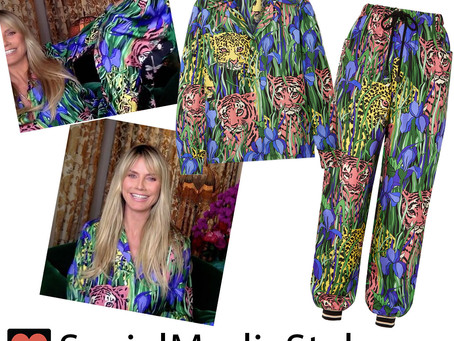 Heidi Klum's jungle cat print pajamas from America's Got Talent