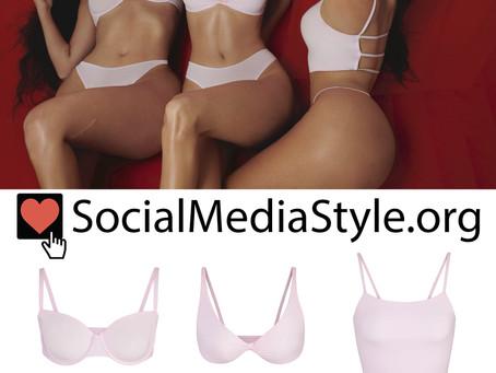 Kim Kardashian and Kendall and Kylie Jenner's Skims blush lingerie