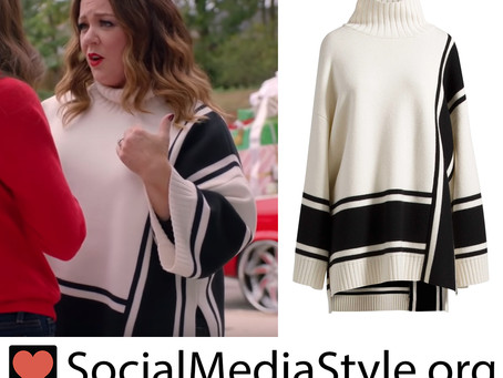Melissa McCarthy's striped mock neck sweater from Ellen's Greatest Night of Giveaways