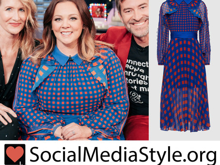 Melissa McCarthy's gingham dress from The Late Late Show with James Corden