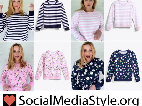 Reese Witherspoon's Draper James striped and floral print sweatshirts