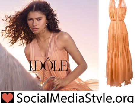 Zendaya's orange dress from the Lancome Idole campaign