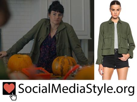 Jane (Shailene Woodley)'s green jacket from Big Little Lies