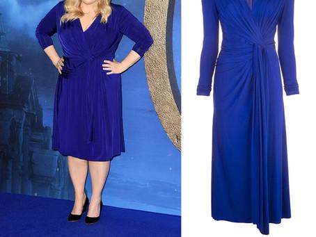 Rebel Wilson's blue twist front dress