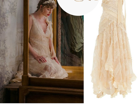 Taylor Swift's lace dress and flower headband from the Willow music video off of the Evermore album