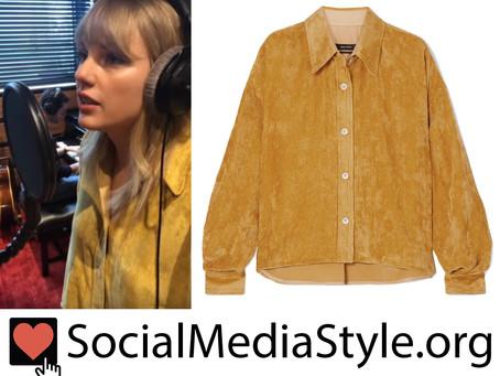 Taylor Swift's mustard corduroy shirt
