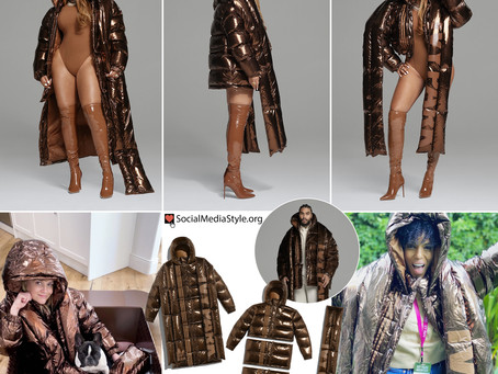 Beyonce, Reese Witherspoon, and Kerry Washington's adidas x Ivy Park metallic puffer jacket