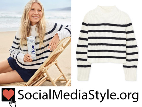 Gwyneth Paltrow's striped sweater
