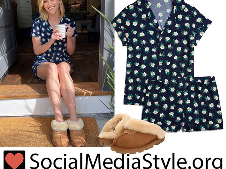 Reese Witherspoon's Draper James floral print pjs and Ugg slippers