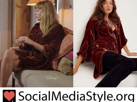 Taylor Swift's velvet shirt dress from Folklore: The Long Pond Studio Sessions