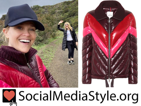 Reese Witherspoon's chevron puffer coat