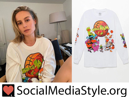 Brie Larson's Space Jam shirt