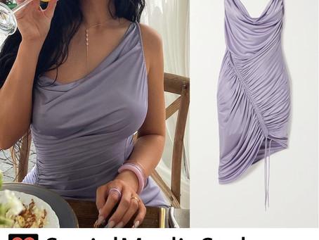 Kylie Jenner's purple satin dress