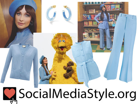Kacey Musgraves' blue outfit from Sesame Street