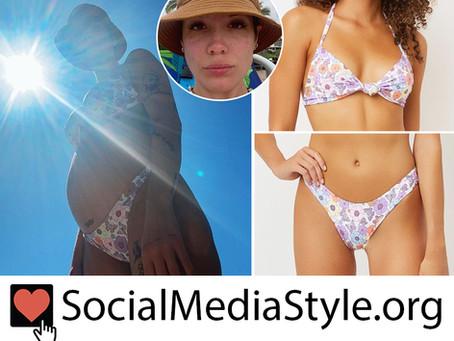 Halsey's floral print bikini
