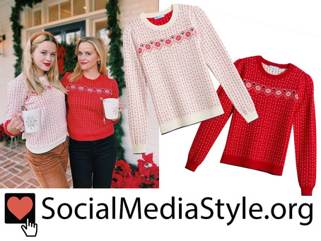 Reese Witherspoon and Ava Phillippe's Draper James fairisle sweaters