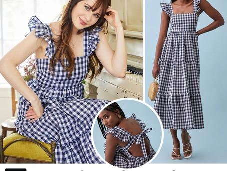 Zooey Deschanel's gingham dress