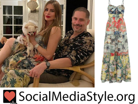 Sofia Vergara's tropical print dress