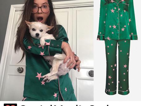 Olivia Munn's star print pajamas