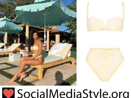Kourtney Kardashian's high waisted yellow bikini