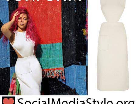 Taraji P. Henson's cutout white dress from Cultured Magazine