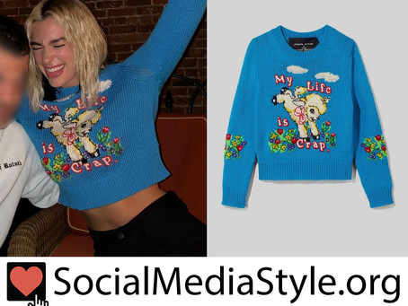 Dua Lipa's Marc Jacobs x Magda Archer lamb sweater