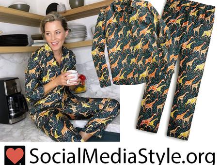 Elizabeth Banks' giraffe print pajamas