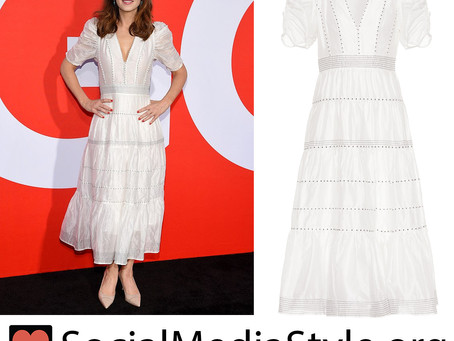 Zooey Deschanel's white dress from the 'Good Boys' premiere
