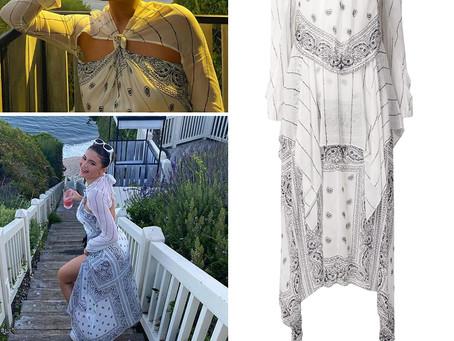 Kylie Jenner's bandana print dress