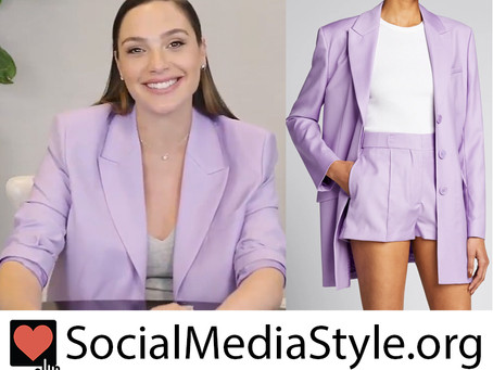 Gal Gadot's purple blazer and shorts from Live with Kelly and Ryan