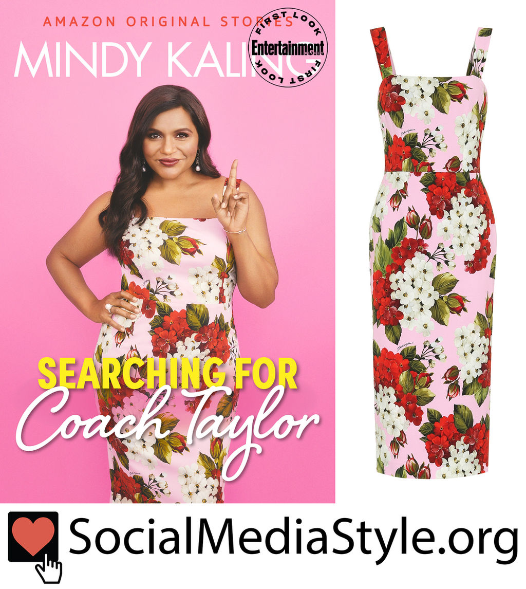 Mindy Kaling S Pink Floral Print Dress From Searching For Coach Taylor