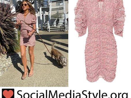 Jennifer Aniston's ruched floral print dress