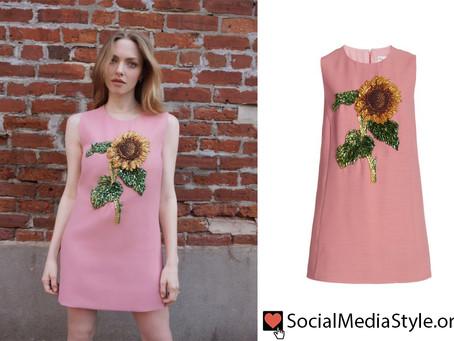 Amanda Seyfried's beaded sunflower dress from The Tonight Show