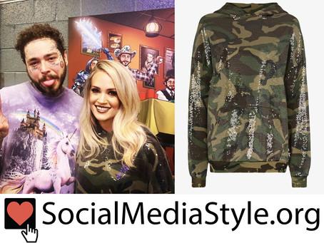 Carrie Underwood's sequin camo sweatshirt