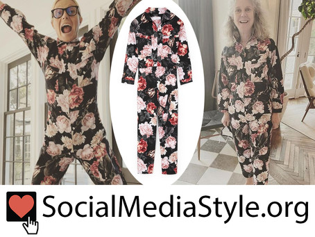 Gwyneth Paltrow and Blythe Danner's floral print jumpsuit