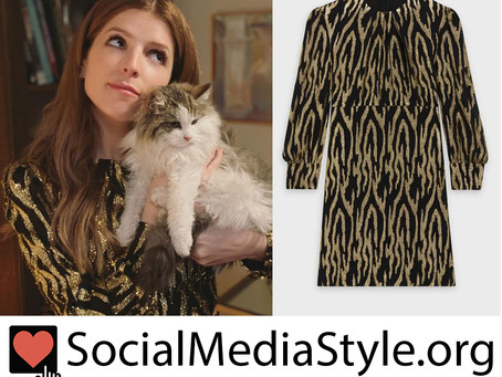 Darby (Anna Kendrick)'s sequin tiger print dress from Love Life