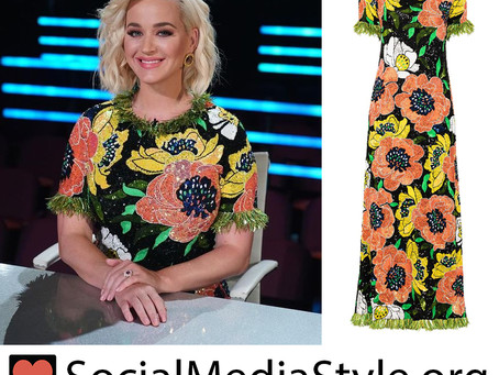 Katy Perry's floral sequin dress from American Idol