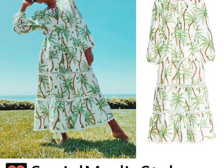 Kerry Washington's tropical print dress